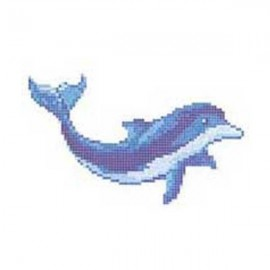 Mozaic lucios - mural Dolphin (dreapta)