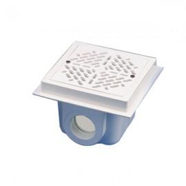 Sifon patrat ABS pentru piscine beton D63