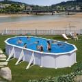Piscina Ovala Atlantis otel inoxidabil Oval 800 x 470 x 132 cm - 49.63 m3