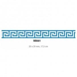Friza mozaic sticla MB681 suport hartie 20x20 cm