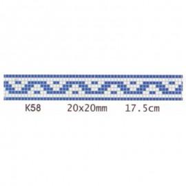 Friza mozaic sticla K58 suport hartie 20x20 cm