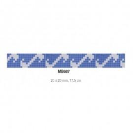 Friza mozaic sticla MB687 suport hartie 20x20 cm