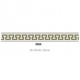 Friza mozaic sticla K68 suport hartie 20x20 cm