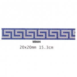 Friza mozaic sticla MB684 suport hartie 20x20 cm