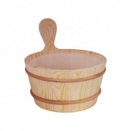 Galeata din lemn de pin 4L pentru sauna