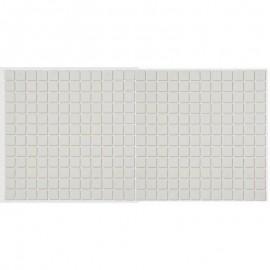 Mozaic sticla Claro alb, suport polybond, 2.5x2.5 cm, cutie 2mp