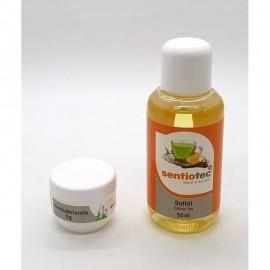 Set Wellness 2 bucati, esenta ceai verde si cristale mentolate